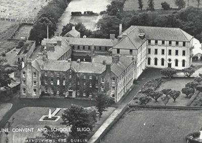 Aerial Shot Ursuline Old School Building Sligo