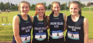 Ursuline College Girls who won Gold Medal at relay