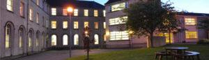 Ursuliine College Sligo with lights on