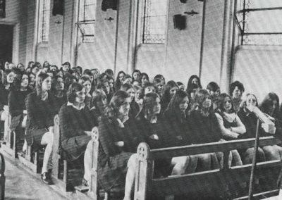 Girls being taught in old Ursuline College Sligo
