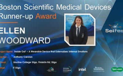 Ellen Woodward wins Boston Scientific Medical Devices Runner-up Grand Award